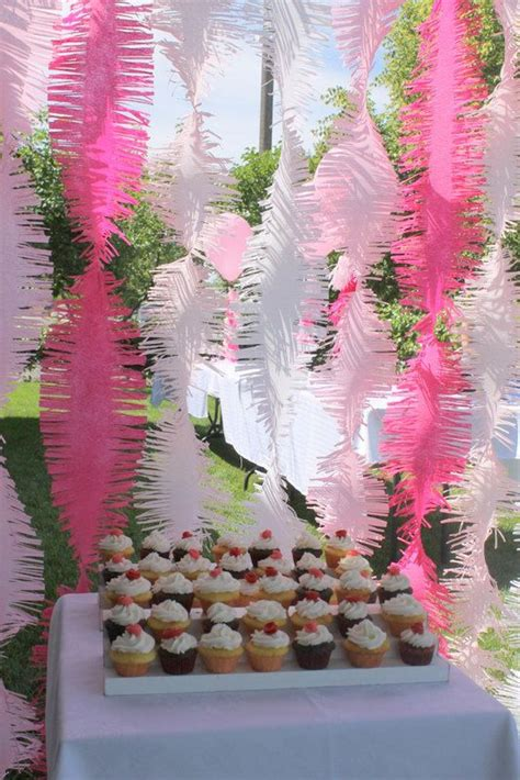 Pink Ombre Frilly Party Streamers | Frolic and Frills
