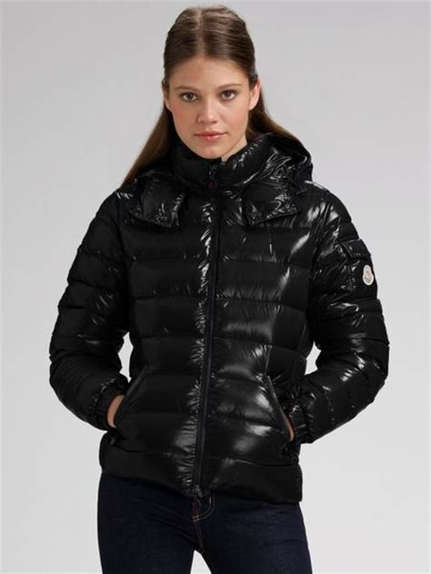 Moncler Hooded Puffer Jacket in Black   Lyst
