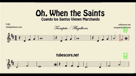 Oh When the Saints Go Marching In Sheet Music for Trumpet