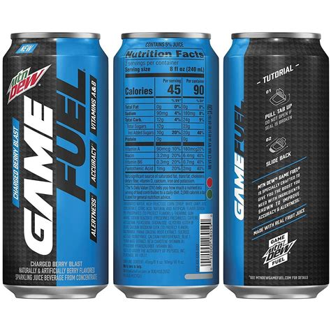 New Mtn Dew Game Fuel 16oz Cans   Mtn Dew Kid