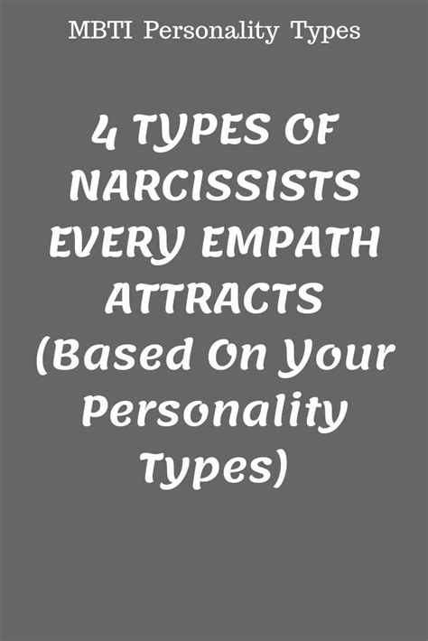 4 TYPES OF NARCISSISTS EVERY EMPATH ATTRACTS (Based On