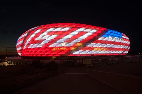 Allianz Arena lights up for North America
