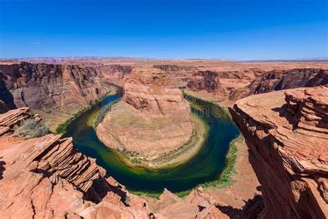 Viewpoint At Horseshoe Bend - Grand Canyon With Colorado