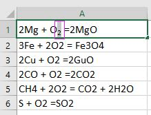 How to subscript all numbers in chemical formulas in Excel?