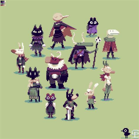 I decided to pixel some characters from some really cool