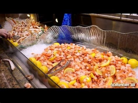 Tour of MGM Grand Buffet in Las Vegas in HD - Dinner