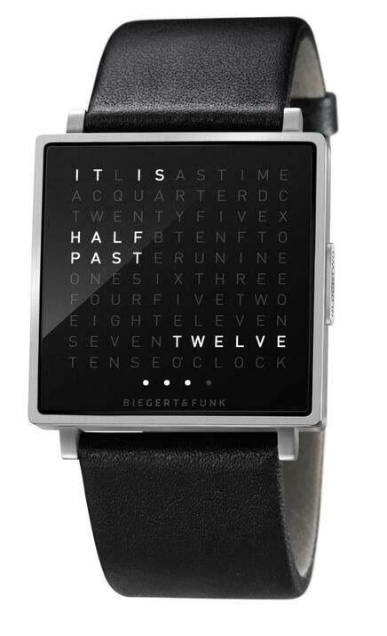 Qlocktwo W Time In Words -Brushed Steel | Watches