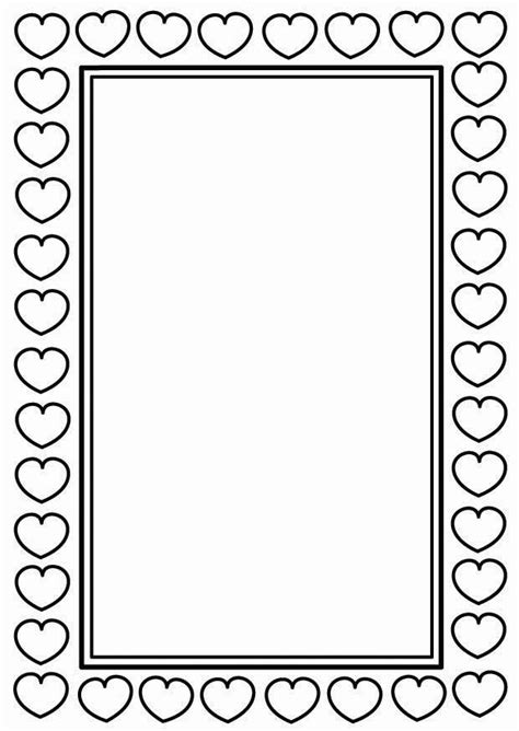 Coloring Page Valentine frame - free printable coloring