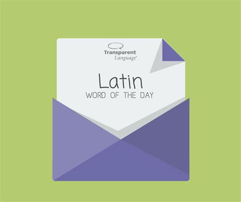 Latin Word of the Day - Free Latin Vocabulary Lessons Online