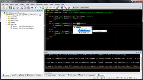 SlickEdit has the most powerful XML code editor features