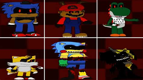 Five Nights At Sonic s 4 - All Animatronics And Jumpscare