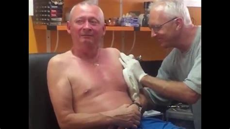 BEST FUNNY drunk Irish dads reaction to getting a tattoo