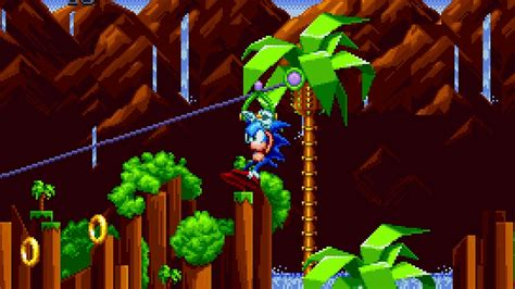 Watch Act 2 of Sonic Mania's Green Hill Zone in action