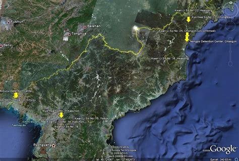North Korea's Largest Concentration Camps on Google Earth